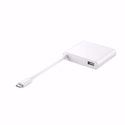 Picture of Huawei Huawei MateDock 2 AD11 HDMI/VGI/USB-C Adapter in White