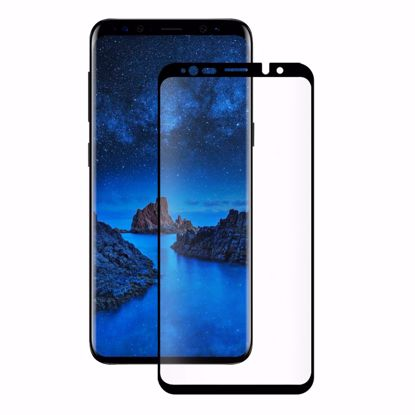 Picture of Eiger Eiger 3D GLASS Case Friendly Tempered Glass Screen Protector for Samsung Galaxy S9+ in Clear/Black
