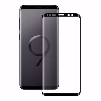 Picture of Eiger Eiger 3D GLASS Full Screen Tempered Glass Screen Protector for Samsung Galaxy S9 in Clear/Black