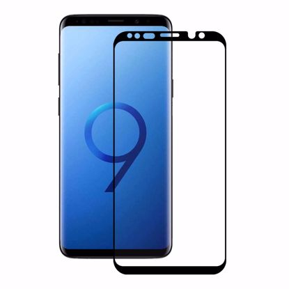 Picture of Eiger Eiger 3D GLASS Case Friendly Tempered Glass Screen Protector for Samsung Galaxy S9 in Clear/Black