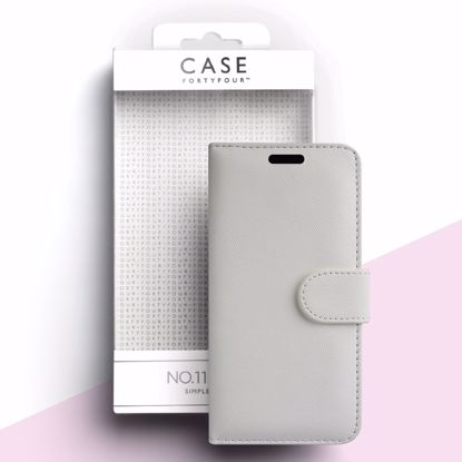 Picture of Case FortyFour Case FortyFour No.11 Case for Apple iPhone 11 Pro Max/XS Max in Cross Grain White