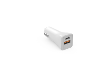 Picture of Golf Golf Quick Charge Dual Car Charger USB-A & USB-C 3A in White (No Cable)