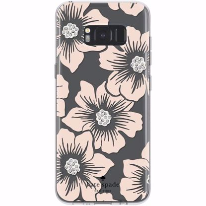 Picture of Kate Spade Kate Spade Hardshell Case for Samsung Galaxy S8+ in Floral/Blush with Stones