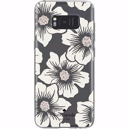 Picture of Kate Spade Kate Spade Hardshell Case for Samsung Galaxy S8 in Floral/Cream with Stones